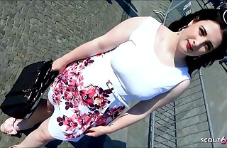 German BBW Teen 18 Picked up and Fucked in bring to on Berlin Street