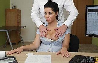 LOAN4K. Crazy sex on the desk alongside loan office for necessary