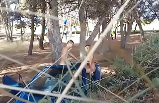 SPECTACULAR: 19 years old teen GALA  gets picked up and fucked outdoors