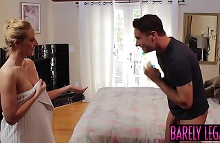 Luscious minx Kate England gets puffy nipples covered in cum