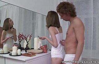 Teeny Lovers - Perky teen Serpente Edita fucking with awe