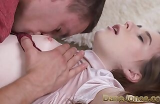 Dane Jones Young small tits lap angel shares her tiny teen puffy pussy