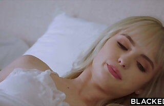BLACKED, BBC-Hungry tiny Blonde gets creampied by roommate